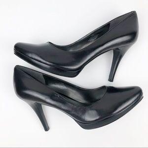 Nine West Plateau Black Heels Size 11
